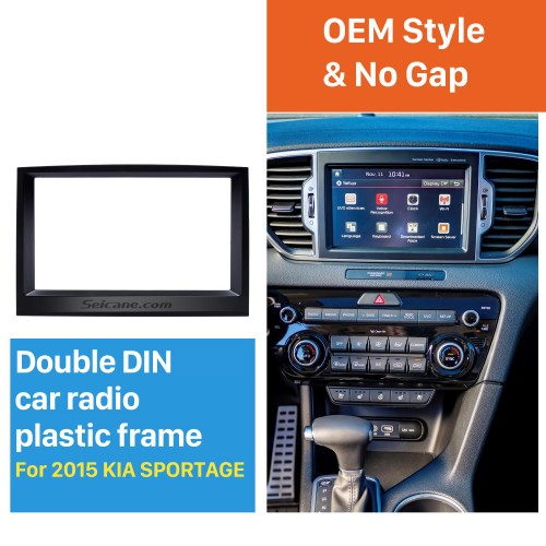 Flawless Double Din 2015 KIA SPORTAGE Car Radio Fascia Dash Trim Kits Audio Frame Autostereo Adapter