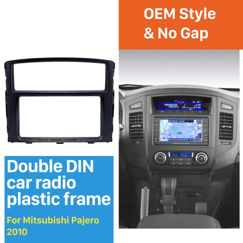 Professional 2Din 2010 Mitsubishi Pajero Car Radio Fascia Auto Styling Trim Dash Frame CD Installation Kit