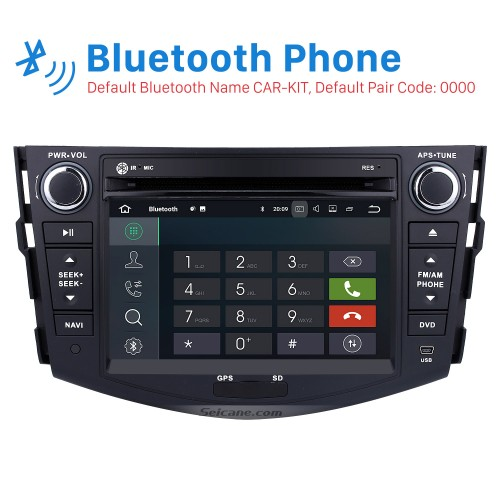 Android 7.1 Aftermarket Head unit for 2006-2012 TOYOTA RAV4 with HD Touchscreen 1024*600 Radio RDS GPS Navigation System Bluetooth WiFi Mirror Link Steering Wheel Control