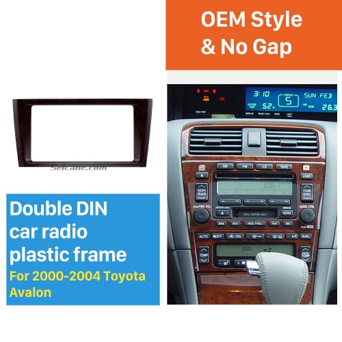 Classic Double Din 2000-2004 Toyota Avalon Car Radio Fascia Dash Mount Kit Face Plate Panel DVD Frame