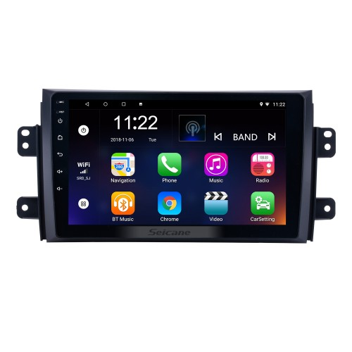 9 inch HD Touchscreen Android 8.1 Radio GPS for 2006-2012 Suzuki SX4 with Bluetooth Music WIFI Audio system 1080P Video USB OBD2 Mirror Link DVR
