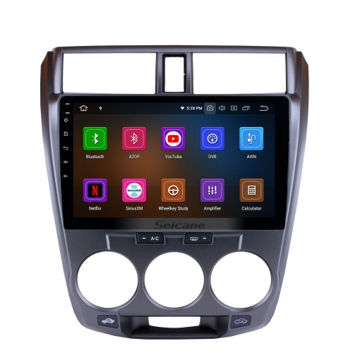 HD 1024*600 Touchscreen 2008-2013 HONDA CITY 10.1 inch Radio DVD Player Android 9.0 GPS Navigation System with Wifi Backup Camera Bluetooth Mirror Link OBD2 DAB+ DVR Steering Wheel Control