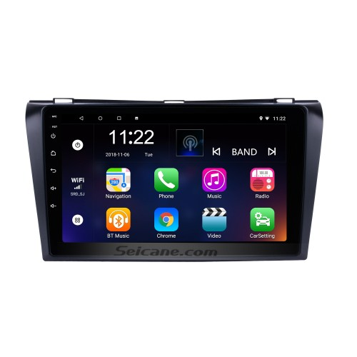 9 inch Android 8.1 2004-2009 Mazda 3 GPS Navigation Car Radio with Bluetooth 3G WIFI USB Touch Screen Rearview Camera Mirror Link OBD2