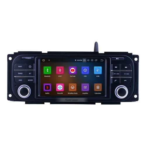 For 2002-2005 2006 2007 Dodge Radio Android 10.0 GPS Navigation System with Bluetooth HD Touchscreen Carplay support Digital TV