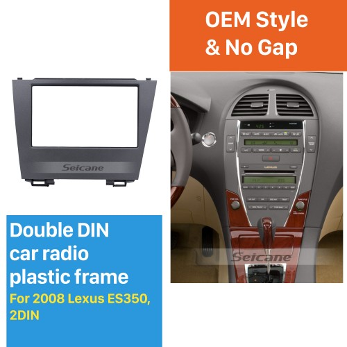 Profesional 2Din 2008 Lexus ES350 Car Radio Fascia DVD Player Stereo Plate Frame Panel Dash Trim Kits