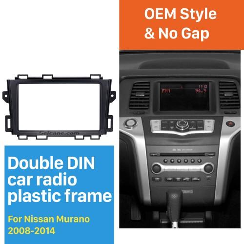 Premium Quality Double Din 2008-2014 Nissan Murano Car Radio Fascia Stereo Frame Panel CD Trim Audio Fitting Adaptor