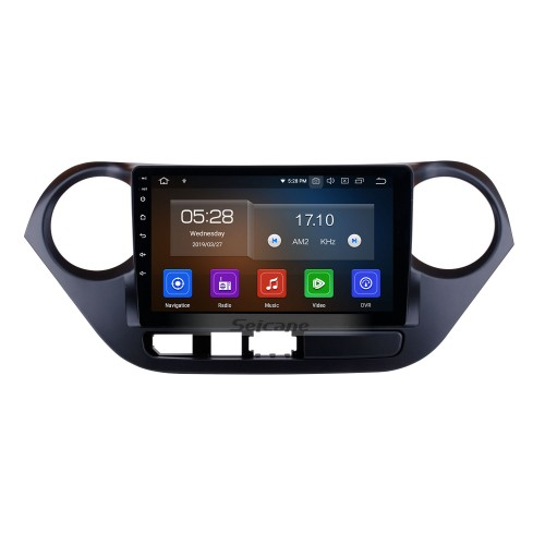 9 inch Android 9.0 GPS Navigation System HD Touch Screen Radio 2013-2016 Hyundai I10 Right Peptide Support OBD2 Bluetooth DVD Player DVR Rearview Camera TV Video Steering Wheel Control WIFI
