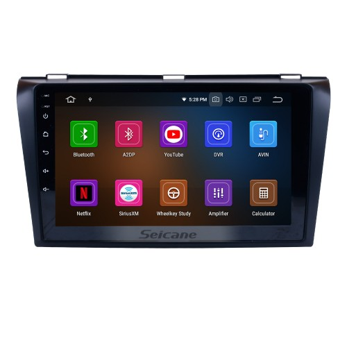 OEM 2004-2009 Mazda 3 Android 9.0 HD Touchscreen 1024*600 Touchscreen DVD GPS Radio Bluetooth OBD2 DVR Rearview Camera 1080P Steering Wheel Control WIFI