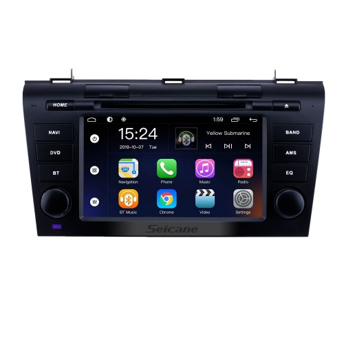 HD Touchscreen for 2007 2008 2009 Mazda 3 Radio Android 9.0 7 inch GPS Navigation System Bluetooth support Steering Wheel Control Carplay