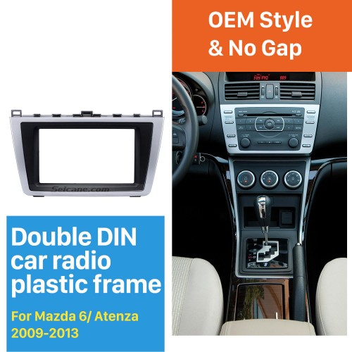 Top Quality 2DIN 2009-2013 Mazda 6 Car Radio Fascia DVD Stereo Install Panel Trim Auto Dash Mount Player Modified Frame