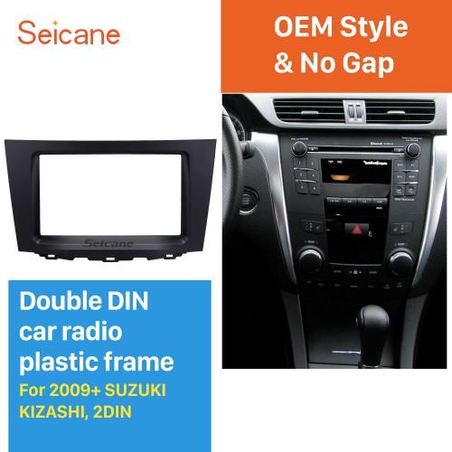 Black Double Din 2009-2014 Suzuki Kizashi Car Radio Fascia Stereo Frame Panel Dash Mount Kit Audio Cover