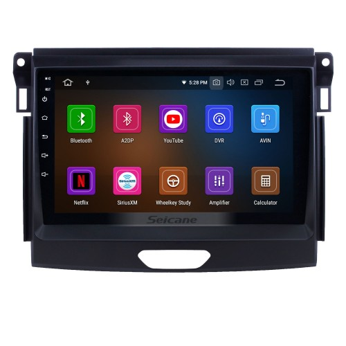 All in one Android 9.0 9 inch 2015 Ford Ranger Radio with GPS Navigation Touchscreen Carplay Bluetooth USB support Mirror Link 1080P Video SWC