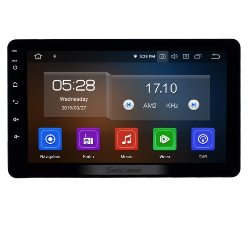 8 inch Android 9.0 Universal Radio Bluetooth HD Touchscreen GPS Navigation Carplay USB AUX support 4G WIFI Rearview camera OBD2 TPMS DAB+ DVR