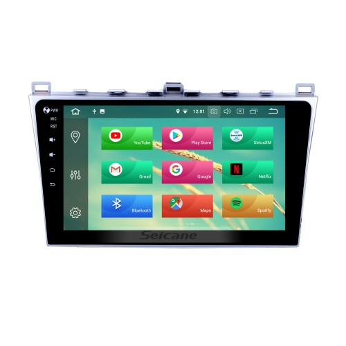 Android 8.1 2008-2015 Mazda 6 Rui Wing Radio GPS Navigation System with HD 1024*600 Touchscreen Bluetooth Mirror link TPMS OBD DVR Rearview camera TV USB 3G WIFI CPU Quad Core