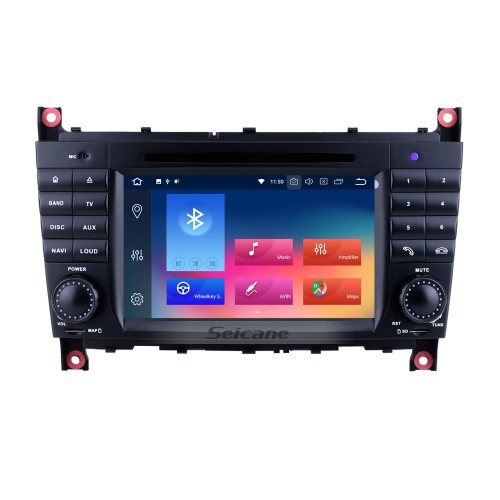 Seicane S127508 Quad-core Pure Android 4.4.4 Autoradio DVD GPS Head Unit for 2004-2011 Mercedes Benz CLK Class W209 CLK270 CLK320 CLK350 CLK500 CLK550 with Radio RDS Bluetooth 3G WiFi Mirror Link OBD2 16G Flash (No12_Android_cardvd)
