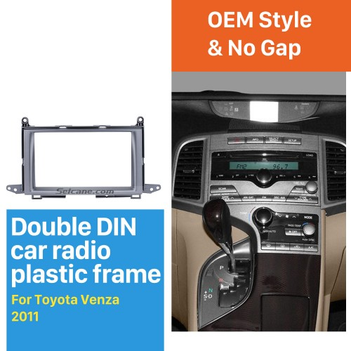 Wonderful Double Din 2011 Toyota Venza Car Radio Fascia Stereo Install DVD Frame Panel Plate