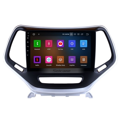 10.1 Inch Android 9.0 Touch Screen radio Bluetooth GPS Navigation system For 2016 Jeep Cherokee Jeep grand Cherokee with TPMS DVR OBD II USB 3G WiFi Rear camera Steering Wheel Control HD 1080P Video AUX