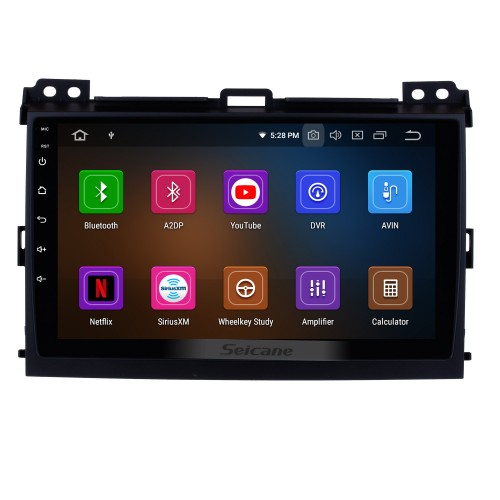 9 inch HD Touch Screen 2002-2009 Toyota Prado Cruiser 120 Android 10.0 Radio GPS Navigation System Bluetooth Music 4G WiFi Backup Camera Mirror Link OBD2 Steering Wheel Control