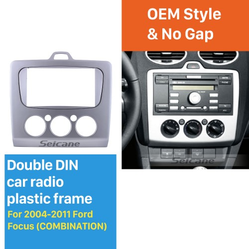 Combination Double Din Car Radio Fascia for2004-2011 Ford Focus Panel Plate Frame Dash Mount Stereo Install