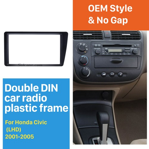 Great Double Din 2001 2002 2003 2004 2005 Honda Civic LHD Car Radio Fascia Dash Mount DVD Frame Auto Stereo Adaptor