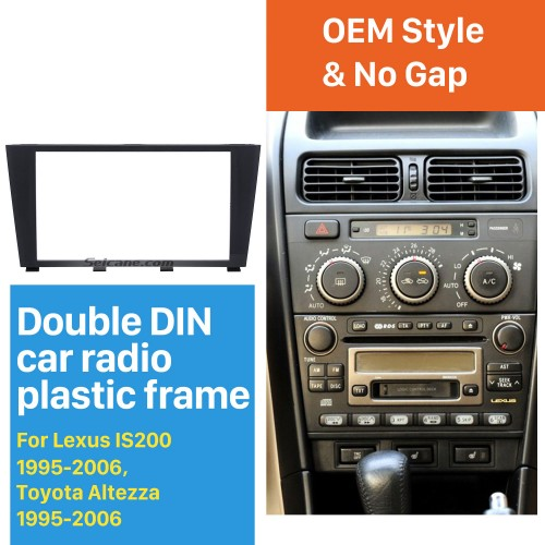 Popular 2Din 1995-2006 Lexus IS200 IS300 Toyota Altezza Car Radio Fascia Dashboard Panel Auto Stereo Plate Frame