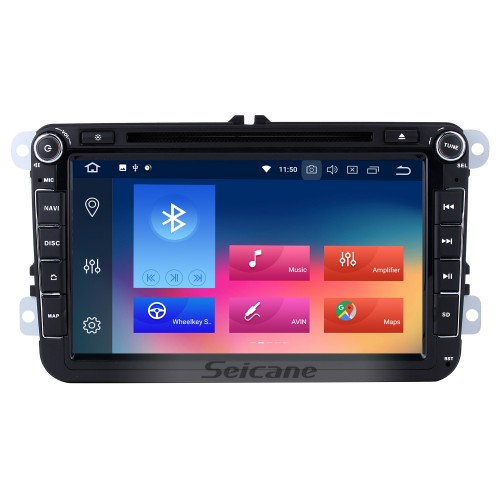 8 inch HD Touchscreen DVD Player for 2006-2012 VW VOLKSWAGEN MAGOTAN with Android 9.0 Radio GPS Navigation USB WIFI Bluetooth Music Audio system Mirror Link 1080P Steering wheel control