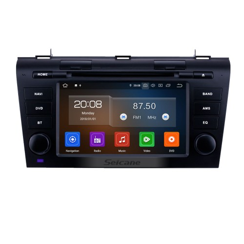 7 inch Android 9.0 GPS Navigation Radio for 2007-2009 Mazda 3 with HD Touchscreen Carplay Bluetooth support Rear camera Digital TV