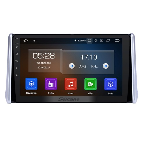 10.1 inch 2019 Toyota RAV4 Touchscreen Android 9.0 GPS Navigation Radio Bluetooth Multimedia Player Carplay Music AUX support Backup camera 1080P