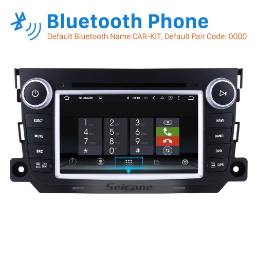 7 inch Android 8.0 2011 2012 2013 2014 Mercedes Benz Smart Radio Upgrade with DVD Navigation Head Unit with 1024*600 Multi-touch Capacitive Screen Bluetooth 3G WiFi Mirror Link AUX MP3 MP4 Steering Wheel Control Rearview Camera