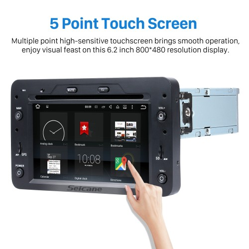 Android 8.0 HD Touchscreen Head Unit For 2005-2013 Alfa Romeo 159 Sportwagon Radio DVD Player GPS Navigation System Music Bluetooth 4G WIFI Support 1080P Video Backup Camera DAB+ DVR AUX
