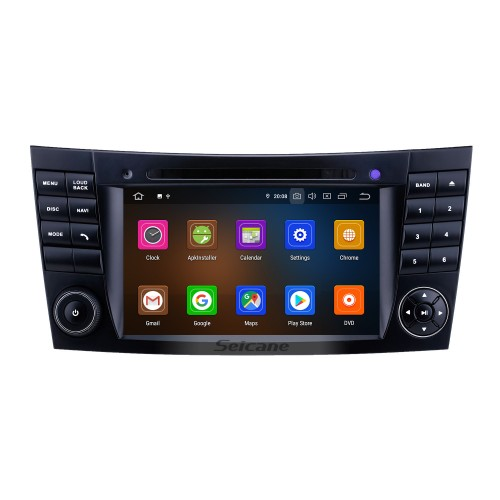 7 inch 2002-2008 Mercedes Benz W211 Android 9.0 GPS Navigation Radio Bluetooth HD Touchscreen AUX WIFI Carplay support DAB+ 1080P TPMS
