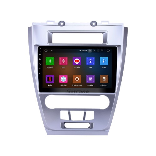10.1 inch Android 9.0 Radio for 2009-2012 Ford Mondeo Bluetooth Touchscreen GPS Navigation Carplay USB support TPMS Steering Wheel Control