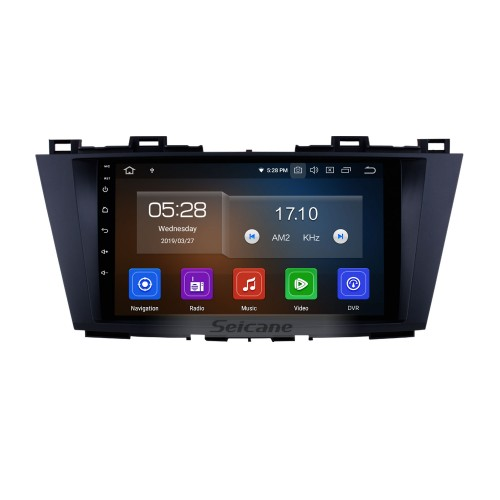 9 inch For 2009 2010 2011 2012 Mazda 5 Android 10.0 HD Touchscreen GPS Navigation System Car Radio for Bluetooth USB WIFI OBD II DVR Aux Steering Wheel Control