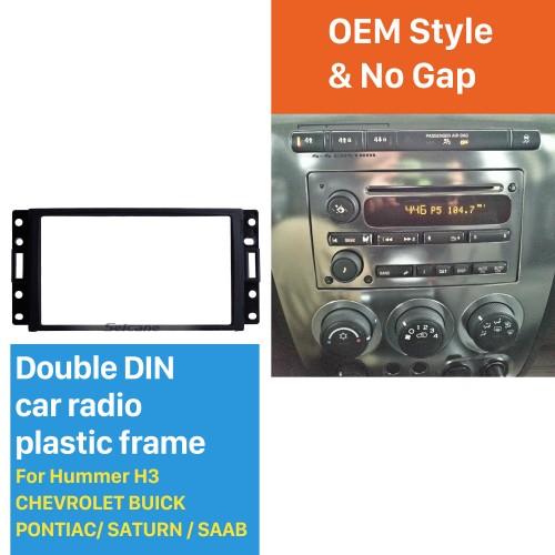 Black Double Din Car Radio Fascia for Hummer H3 CHEVROLET BUICK PONTIAC/ SATURN / SAAB Surround Panel Auto Trim Stereo Dash CD Frame