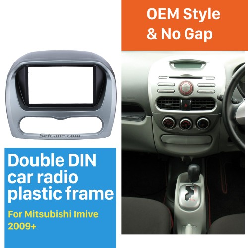 Good Quality 2Din 2009+ Mitsubishi Imive Car Radio Fascia Auto Stereo CD DVD Frame Panel Trim Bezel