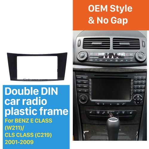 2Din 2001 2002 2003-2009 Mercedes BENZ E CLASS W211 CLS CLASS C219 Car Radio Fascia CD Trim Panel Stereo Frame Dash Kit Face Plate
