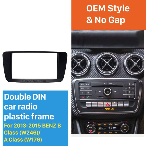 Stunning 2Din 2013 2014 2015 Mercedes BENZ B Class W246 A Class W176 Car Radio Fascia Surround Panel Install Frame Auto Trim