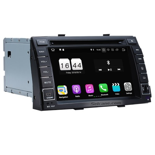 Aftermarket Android 8.1 Radio DVD Player Navigation System for 2010 2011 2012 KIA SORENTO with Bluetooth HD 1024*600 Touch Screen Mirror link GPS OBD2 DVR TV USB SD 3G WIFI  Rearview Camera 16G Flash Quad-core CPU HD 1080P Video Steering Wheel Control