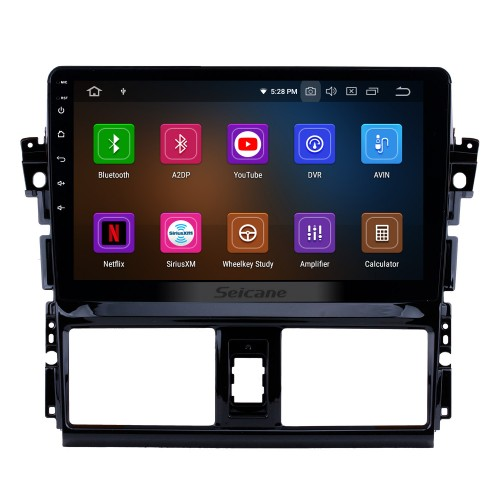 10.1 inch Android 9.0 2013 2014 2015 2016 Toyota Vios GPS Radio with 1024*600 Touchscreen Bluetooth Music 4G WiFi Backup Camera Mirror Link OBD2 Steering Wheel Control