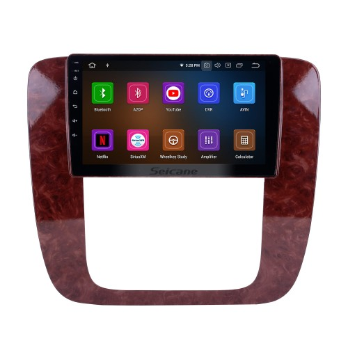 2007-2012 GMC Yukon/Acadia/Tahoe Chevy Chevrolet Tahoe/Suburban Buick Enclave Android 9.0 9 inch GPS Navigation Radio Bluetooth HD Touchscreen Carplay support TPMS