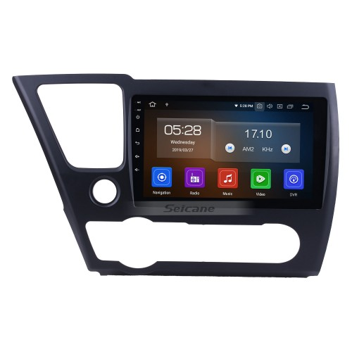 For 2014 2015 2016 2017 Honda Civic Android 10.0 HD Touchscreen 9 inch car stereo GPS Navigation Radio Bluetooth Mirror link OBD DVR Rear view camera TV USB Carplay