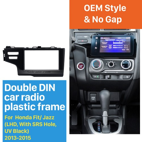 Nice 2Din 2013 2014 2015 Honda Fit Jazz LHD with SRS Hole Car Radio Fascia Panel Frame Dash Mount Stereo Install