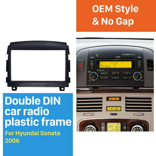 Flawless Double Din 2006 HYUNDAI SONATA Car Radio Fascia Install Frame Surround Panel Auto Stereo Installation