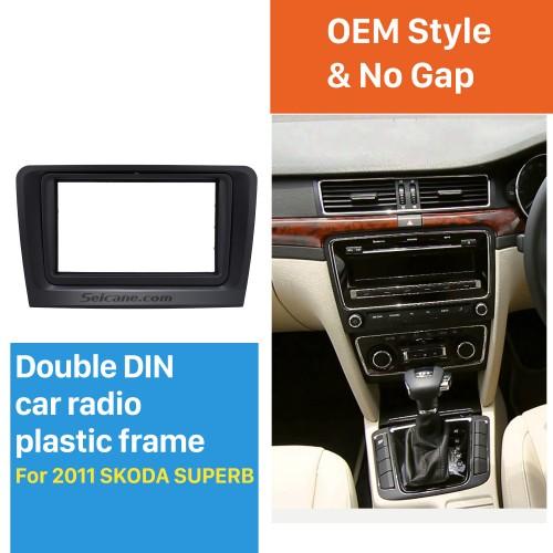 Stunning Double Din Car Radio Fascia for 2011 Skoda Superb Stereo Plate Frame Panel Dash Mount Auto Trim