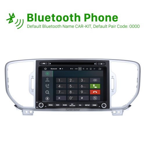 8 Inch 1024*600 Touchscreen Android 8.0 2011-2015 2016 2017 Kia SPORTAGE R Bluetooth Radio GPS Navigation Car Stereo with Mirror Link 3G Wifi USB DVR Steering Wheel Control