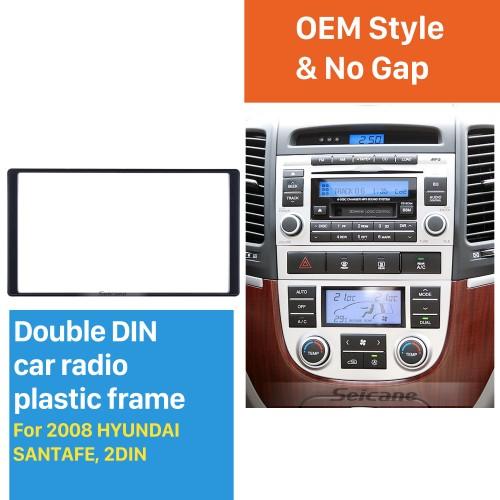 Exquisite Double Din 2008 HYUNDAI SANTAFE Car Radio Fascia Trim Installation Kit Car Dashboard Cover Frame Panel