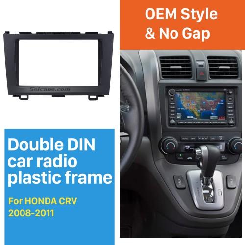 Superior Quality 2Din 2008 2009 2010 2011 HONDA CRV Car Radio Fascia Frame Audio Cover Fitting Frame