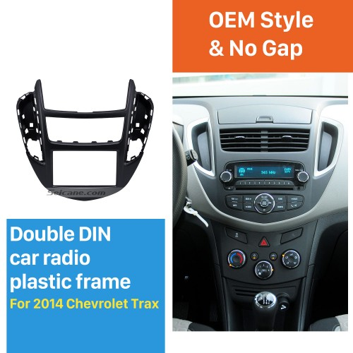 Top Quality 2DIN 2014 Chevrolet Trax Car Radio Fascia DVD Player Vehicle-mounted Install Trim Panel Face Frame Plate