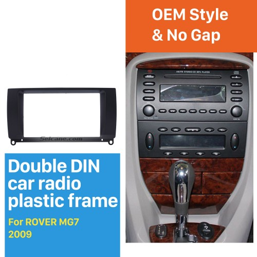 Black Double Din Car Radio Fascia for 2009 ROVER MG7 Autostereo Interface Dash Mount DVD Player Fitting Frame