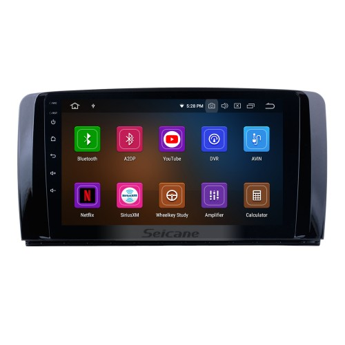 9 Inch OEM Android 9.0 Radio Capacitive Touch Screen For 2006-2013 Mercedes Benz R Class W251 R280 R300 R320 R350 R63 Support 3G WiFi Bluetooth GPS Navigation system TPMS DVR OBD II AUX Headrest Monitor Control Video Rear camera USB SD